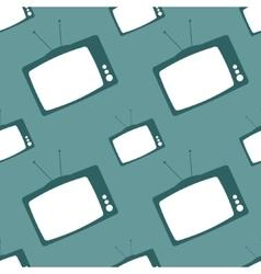 Television set seamless backdrop vector image