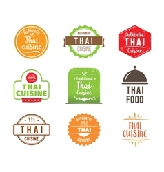 Thai cuisine label vector