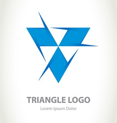 Triangle - logo design template Business icon vector image vector image