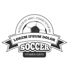 Soccer logo badge template isolated in vector