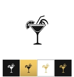 Cocktail glass sign like margarita icon vector
