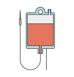 Isolated blood bag of medical care design vector