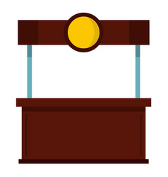 Empty counter with canopy icon isolated vector