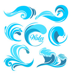 Water splashes and ocean waves graphic vector