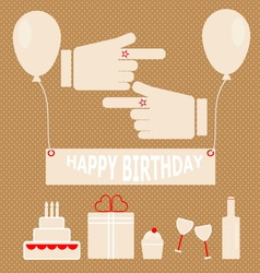 Simple birthday party in retro style vector