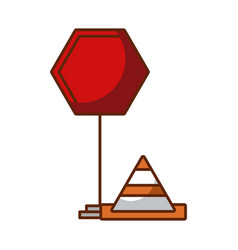 Traffic signal with cone vector