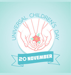 20 november childrens day vector image vector image