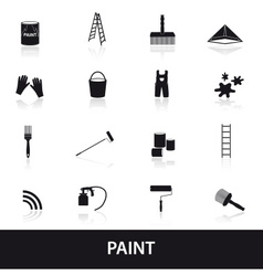 Paint icons set eps10 vector