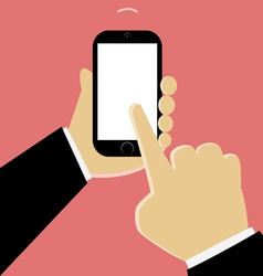 Mobile phone in hand vector