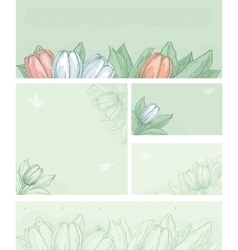 Spring floral backgrounds vector