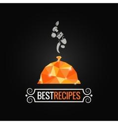 menu poly design background vector image