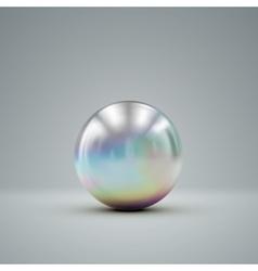 3D metallic sphere vector image vector image