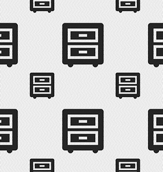 Nightstand icon sign seamless pattern with vector