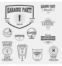 Karaoke badges logos and labels for any use vector