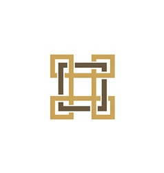 Square decorative ornament logo vector