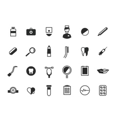 Medical icons set health and hospital symbols vector