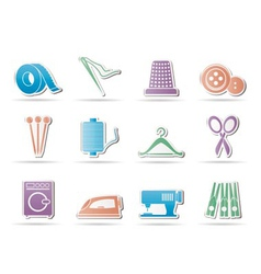 Textile icons vector