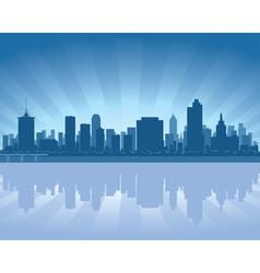 Tulsa oklahoma skyline vector