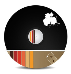 Stylish vinyl record vector