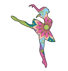 Ballet dancer colorful vector