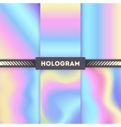 Colored hologram backgrounds for sticker vector