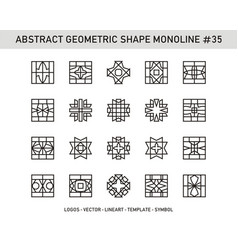 Abstract geometric shape monoline 35 vector
