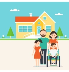 Accessible housing for people with special needs vector