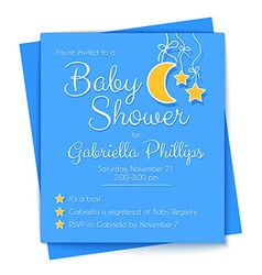 Baby Shower Invitation Template vector image vector image