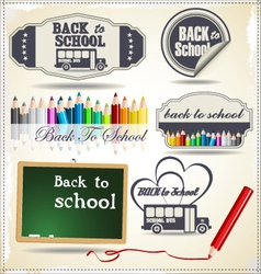 Back to School retro Design vector image