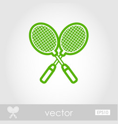 Badminton racket outline icon summer vacation vector