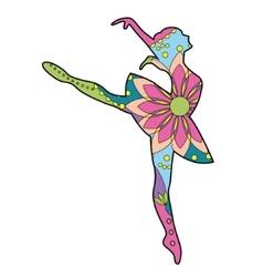 Ballet dancer colorful vector image