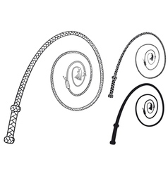 Braided leather whip vector