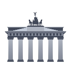 Brandenburg gate in berlin isolated vector