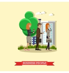 Business people and modern gadgets concept vector image