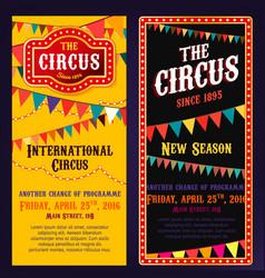 Circus banners 03 b vector