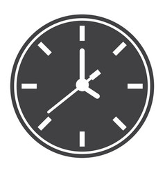 clock solid icon time and website button vector image vector image