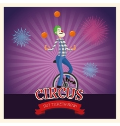 Clown of carnival design vector