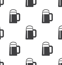 Glass of beer seamless pattern vector