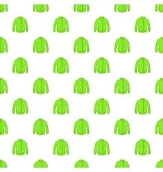 Green jacket pattern cartoon style vector