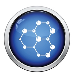 Icon of chemistry hexa connection of atoms vector image vector image