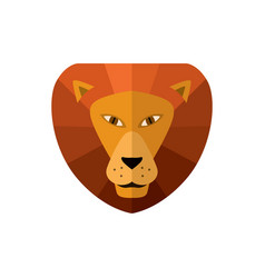 lion head icon in flat design vector image