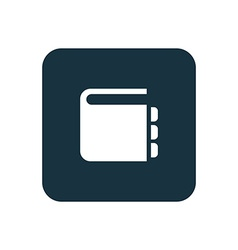 notepad icon Rounded squares button vector image