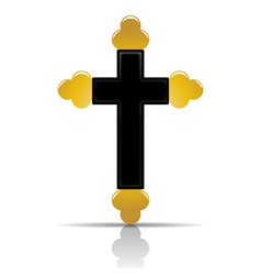 Orthodox cross vector
