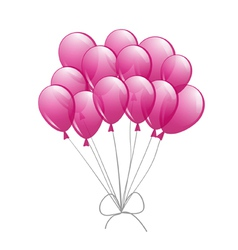 pink balloons vector image vector image