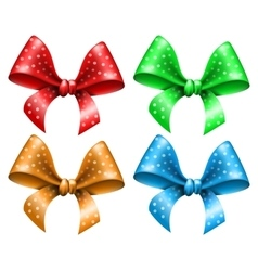 Polka dot bow vector image