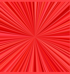 Red explosion background from radial stripes vector
