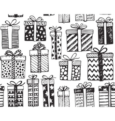 Seamless pattern with christmas or birthday vector