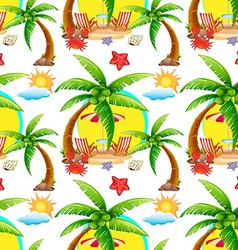 Seamless summer vector image