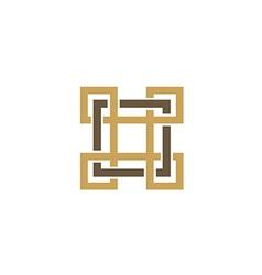 square decorative ornament logo vector image vector image