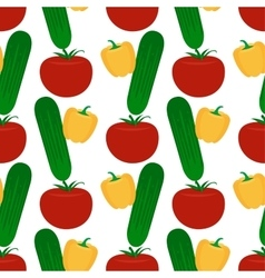 Vegetables flat seamless pattern vector image